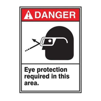 SIGN DANGER 7X10 ADHESIV VINYL