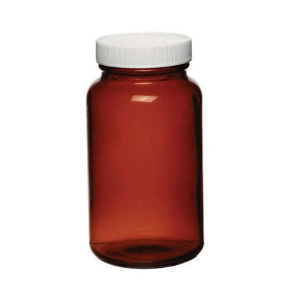 Cole-Parmer Bottle, Amber Wide-mouth Packers, 4 oz, 24/cs