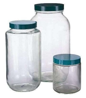 Qorpak 7772TW Safety-coated Sample Jars, Straight Sided, 960 mL, Cs Of 12