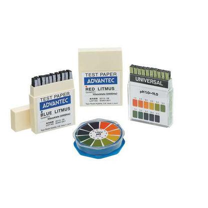 Advantec Universal pH Test Paper; pH Range 1 to 11; 10 Booklets of 20 Strips