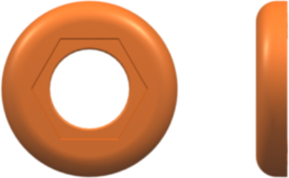 Color Coded Ring (For use with FTLLB or FTLB ) Orange Nylon