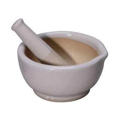Cole-Parmer Mortar and Pestle Set, Porcelain; 125 mL, Each