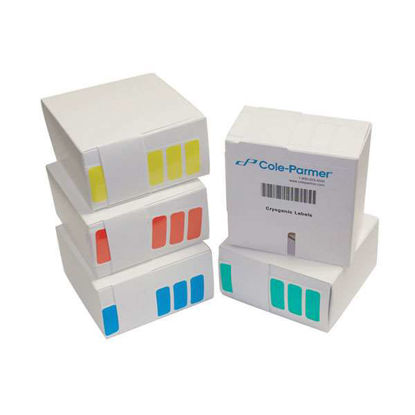 MICROTBE LBL 1-1/4X1/2 RED