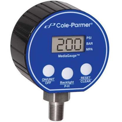 "Digital Pressure Gauge, 0-500 psi, 3"" Diameter, 1/4"" NPT(M)"
