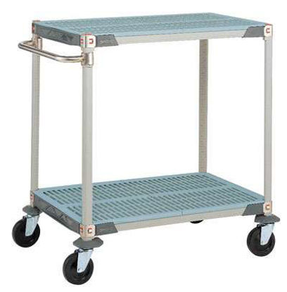 CART PLASTIC 2-SHELF