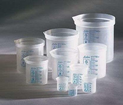 """Azlon polypropylene """"square ratio"""" beaker, 25 mL (package of 10)"""