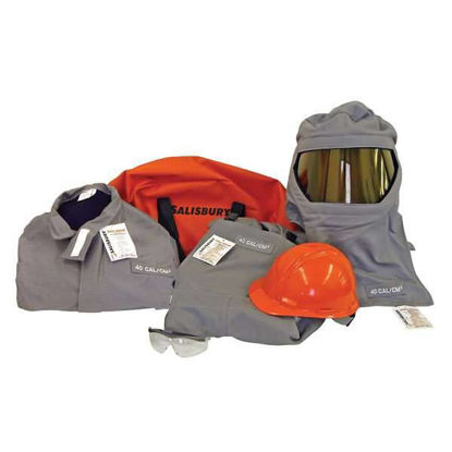 Salisbury by Honeywell SK40-2 Arc Flash Protective Flash Suit Kits, 40 cal/cm2, double extra large
