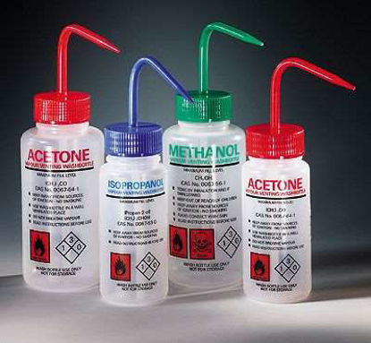 Azlon 506475-0001 Solvent Venting Wash Bottle with Write-On Area, 250 mL 5 pack