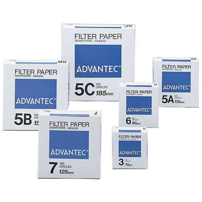 Advantec Grade 4A Ashless Quantitative Filters, <5 um, 9 cm; 100/Pk