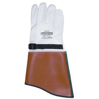 LEATHER GLOVE 16 INCH SIZE 9