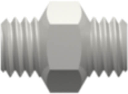 10-32 UNF Thread Coupler with 1/4in Hex White Nylon