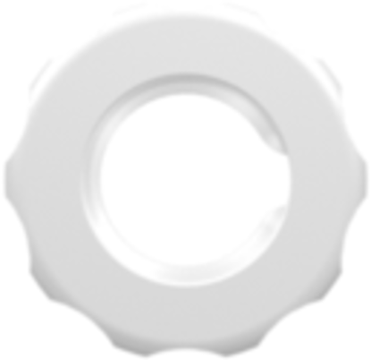1/4-28 UNF Panel Mount Lock Nut (For use with FTLLB or FTLB panel mount fittings) Animal-Free Natural Polypropylene