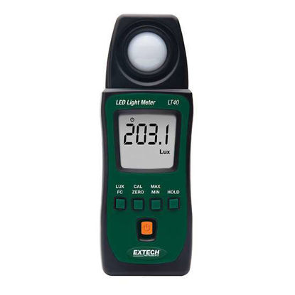 Extech LT40 Light Meter for White Led and Standard Lights
