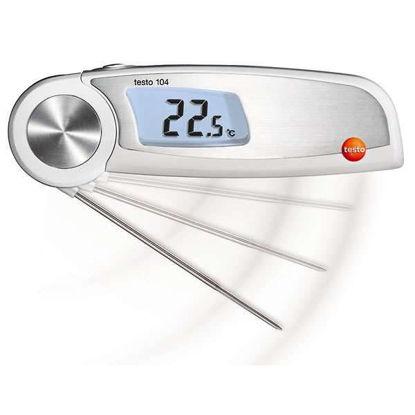 Testo 104 Waterproof Folding Food Thermometer, Narrow; -58 to 482 F