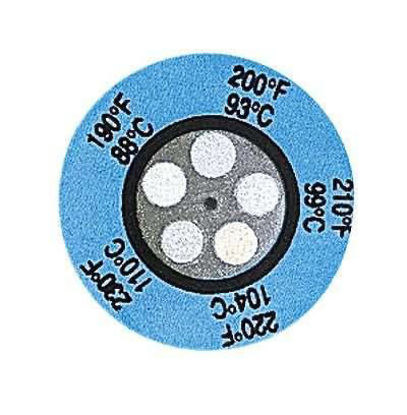 TEMP. LABELS 340-380F 25/PK