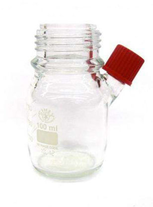 Glass Bottle 100ml Coated, Clear, w/ Septa Port, w/ Septa , w/ Cap