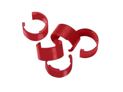 COLOR CLIPS, BAG OF 10 IN (RED)