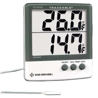 Digi-Sense Traceable® Indoor/Outdoor Digital Thermometer with Giant Dual-Display and Calibration