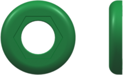 Color Coded Ring (For use with FTLLB or FTLB ) Green Nylon