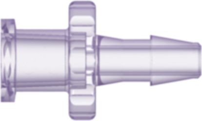 Female Luer Thread Style to 200 Series Barb 1/8in (3.2 mm) ID Tubing Rad. Stable Polycarbonate