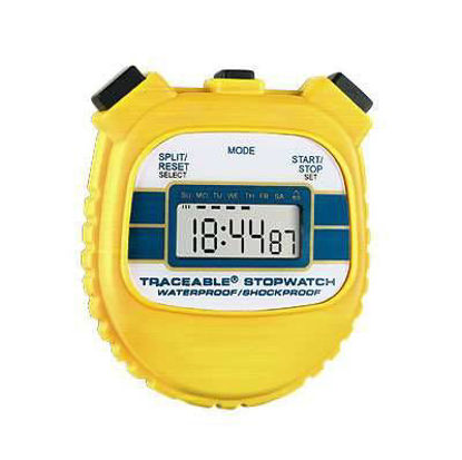 Digi-Sense Traceable® Waterproof/Shock-Resistant Stopwatch with Calibration; Yellow