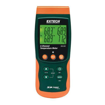 Extech SDL200 4-Channel Datalogging Thermometer