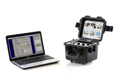 Semi-portable Accelerometer Calibration System. Allows for NIST/PTB traceable calibration of accelerometers from 7 Hz to 10 kHz. Includes Model 9110D portable calibrator, laptop controller, data acquisition system and accessories.