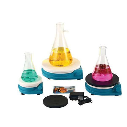 Lab Companion AAA330115B Round top Magnetic Stirrer with silicon plate cover, 2L, 100-240V