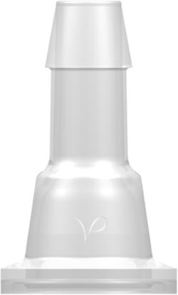 Sanitary Fitting Mini Flange to 600 Series Barb 3/8in (9.5 mm) Tubing ID Animal-free Natural Polypropylene