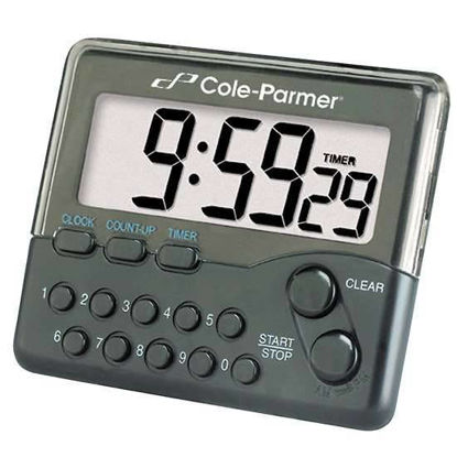 Cole-Parmer Jumbo Display Push-Button Digital Clock/Timer