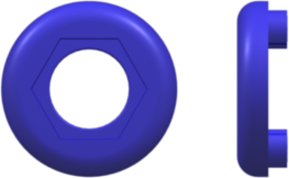 Color Coded Lock Ring (For use with FTLLB or FTLB ) Blue Nylon