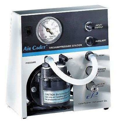 Air Cadet Vacuum/Pressure Pump Station, Diaphragm, 0.5 cfm, 115 VAC