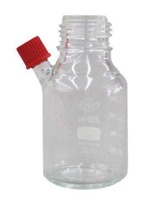 Glass Bottle 500ml Coated, Clear, w/Septa Port, w/Septa, w/Cap