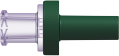 "Check Valve Female Locking Luer to Pocket for .098""; (2.5 mm) OD Tubing 2.9 psig +/- 0.725 psig Flow Rate with Glucose >= 150 ml/min Back Pressure 304.5 psi Clear-Transparent Polycarbonate and Green-Polycarbonate w/Silicone Diaphragm"