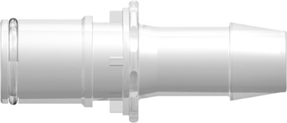 """RQX Series Male Open Flow Connector 600 Series Barb 1/2""""; (12.7 mm) ID Tubing Animal-Free Polypropylene Silicone O-Ring"""