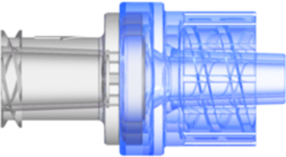 Check Valve Female Locking Luer to Male Locking Luer Crack Pressure  2.9 psi +/- 0.725 psig Flow Rate >=150 ml/min Back pressure 304.5 psi SAN Clear-Trans and SAN Blue-Trans w/Silicone Diaphragm
