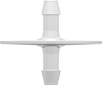 "Dip Tube (Opposable Barbs) with two 600 Series Barbs 1/4""; (6.4 mm) Tubing ID USP Class VI Animal-free Granuflex Polyethylene"