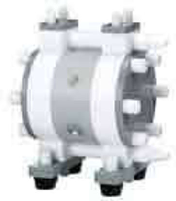 """High-purity air-operated double-diaphragm pump, 3.25 GPM, 1/4"""" NPT"""