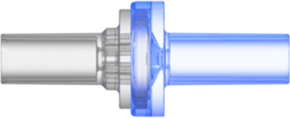 Check Valve Pocket for .161in (4.0 mm) OD tubing to .161in (4.0 mm) OD tubing Cracking Pressure 1.450 - 4.351 psig Flow Rate max 200 ml/min Clear and Blue MABS w/Silicone Diaphragm