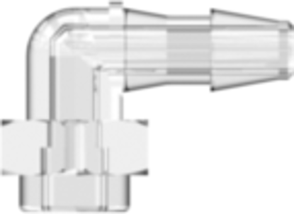"""Build-a-Part Elbow 200 Series Barb 3/32""""; (2.4 mm) ID Tubing Clear Polycarbonate"""