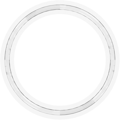 Molded Gasket for 2 inch Flange Fittings Platinum-Cured Silicone