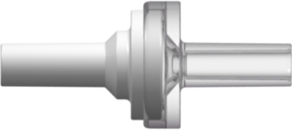 """Check Valve  Socket fitments for 2.4 mm (0.095"""") ID tubing cracking pressure &lt 6mbar (0.1 psi) maximum back pressure 8 bar (116 psi) Flow Rate &gt 110 ml/min White and Clear MABS with Silicone Diaphragm"""