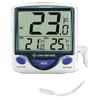 Digi-Sense Jumbo Display Digi Thermometer w Calibration