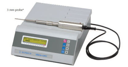 "Ultrasonic Processor 130 watt , 20 kHz  with CV18 converter and 630-0422  (1/8"") 3mm probe"