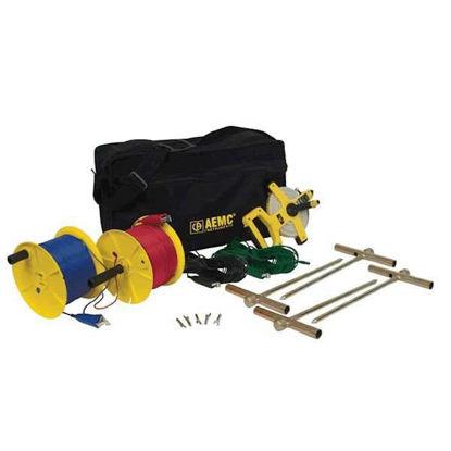 AEMC 2135.37 Test Kit for Ground Resistance Tester, 4 points, 500ft