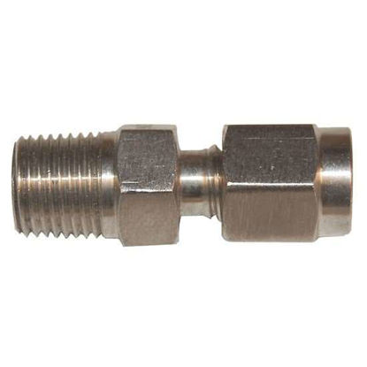 "Digi-Sense Compression Fitting; Probe Diameter 3/16""; 316 Stainless Steel; 1/4""NPT (M)"