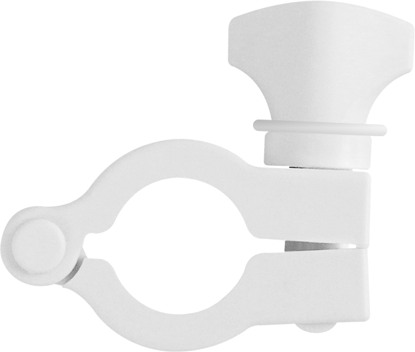 Clamp Mini Flange  1/2in (12.7 mm) to 3/4in (19.0 mm) Glass Reinforced White Nylon, Pack of 10.