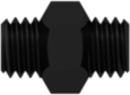 10-32 UNF Thread Coupler with 1/4in Hex Black Nylon