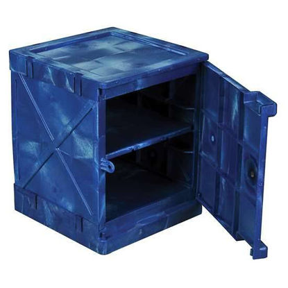 CABINET SAFETY PE 4 GAL BLUE