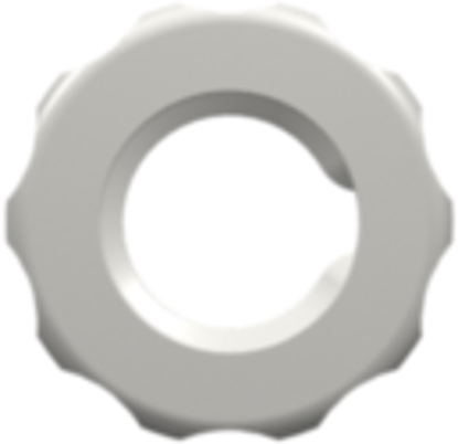 1/4-28 UNF Panel Mount Lock Nut (For use with FTLLB or FTLB panel mount fittings) White Nylon
